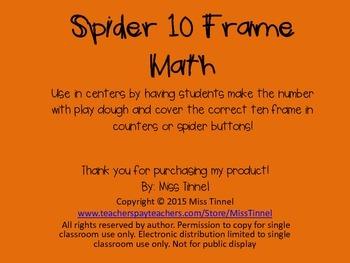 Spider Math 10 Frames