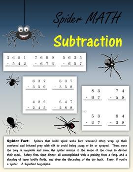 Spider Math:  Subtraction