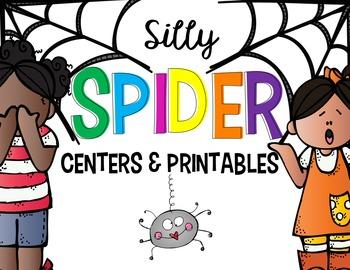 Spider Math and  Literacy Centers for Kindergarten