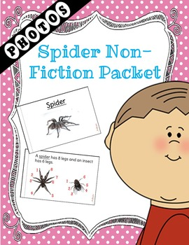 Spider Non-Fiction Packet for Autism and Special Education
