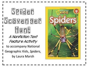 Spider Scavenger Hunt, a Non-Fiction Text Feature Activity