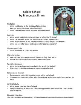 Spider School by Francesca Simon - Teaching Literary Skill
