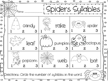 Spider Syllables