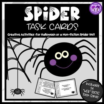 Halloween Spider Task Cards