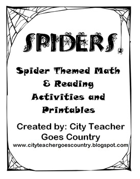 Spider Themed - Math, Reading, Language Arts - Activities,