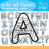 Spider Web Alphabet - White - Graphics From the Pond