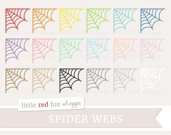 Spider Web Corner Clipart; Halloween