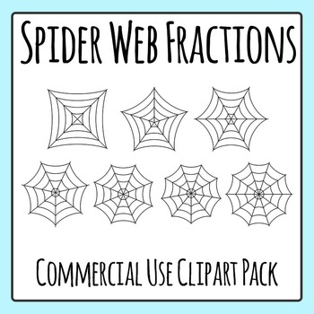 Spider Web Fractions Clip Art Set for Commercial Use