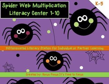 Halloween October Spider Web K-5 Differentiated Multiplica