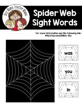 Spider Web Sight Words