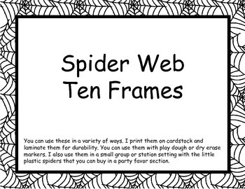 Spider Web Ten Frames