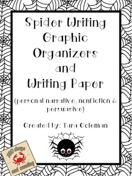 Spider Writing Freebie (graphic organizers & writing paper)