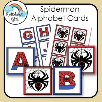 Spiderman Alphabet Cards