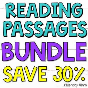 Reading Comprehension Passages HUGE $$$ Savings BUNDLE for