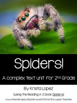 Spiders - A Close Reading and Informative Writing Unit