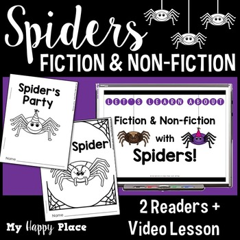 Spiders - A Fiction and Non-Fiction Lesson with Printable Books