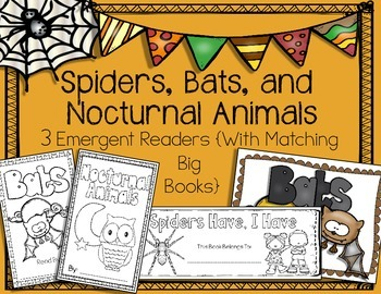 Spiders, Bats, and Nocturnal Animals {3 Emergent Readers a