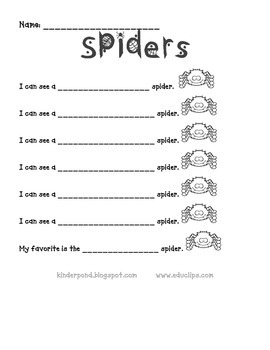 Spiders Bright Pocket Chart