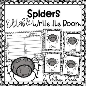 Spiders~ Editable Write the Room