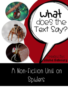 Spiders Non Fiction Text Packet