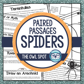 Spiders Nonfiction Reading Passages - Close Reading for In