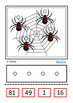 Spiders Square Numbers, Autism Special Education Middle Sc