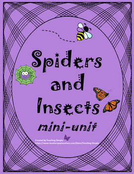 Spiders and Insects Mini-Unit - Fall - Informational Text