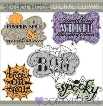 Spiderweb Sayings Clip Art