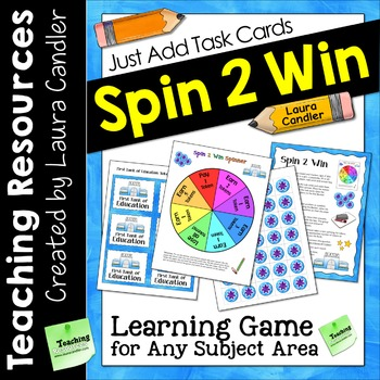 Spin 2 Win Game for Task Cards