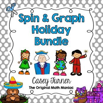 Spin & Graph Holiday Bundle (Bar Graph, Tally Chart, Line