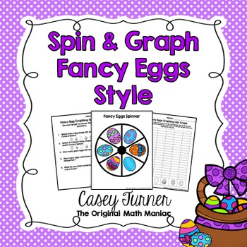Spin & Graph: Fancy Eggs (Bar Graph, Tally Chart, Line Plo
