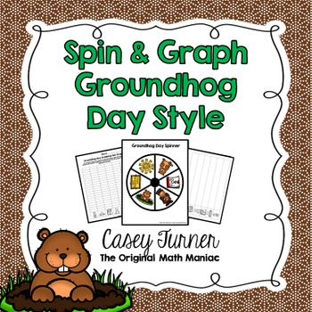Spin & Graph: Groundhog Day (Bar Graph, Tally Chart, Line