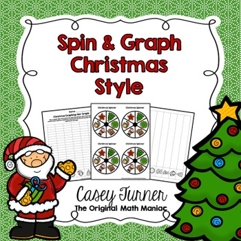 Spin & Graph: Christmas (Bar Graph, Tally Chart, Line Plot