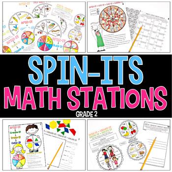 Spin-Its Math Stations YEARLONG Mega Bundle
