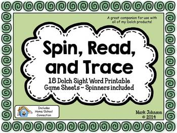 Spin, Read, and Trace {18 Dolch Sight Word Printable Games