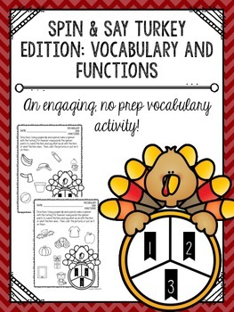 Spin & Say Turkey Edition: Vocabulary and Functions