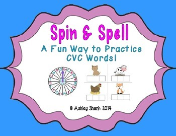 Spin & Spell: A CVC Word Spelling Game