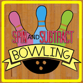 Spin & Subtract Bowling -- a Kindergarten Subtraction Printable!