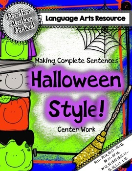 Making Complete Sentences Halloween Style