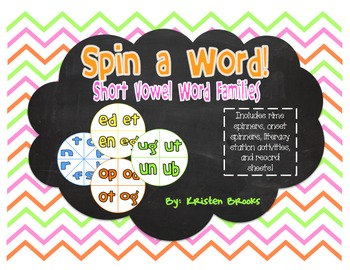 Spin a Word: Real or Nonsense (Short Vowel Word Families)