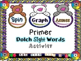 Spin and Graph Primer Dolch Sight Words- Activity Packet p