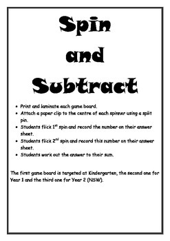 Spin and Subtract