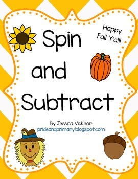 Spin and Subtract!  A Fall Themed Subtraction Activity