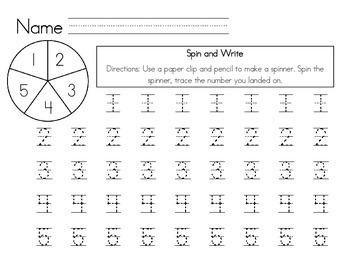Spin and Write #''s 1-5