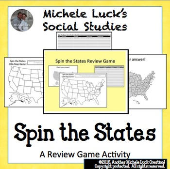 Spin the States Game!  Great Geography Review of the Unite