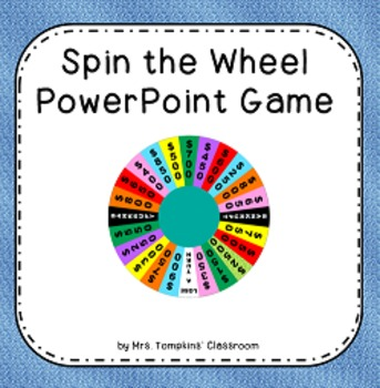 Spin the Wheel Game - Wheel of Fortune... by Mrs Tompkins ...