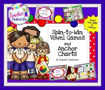 Vowel Team Games & Long Vowel Posters