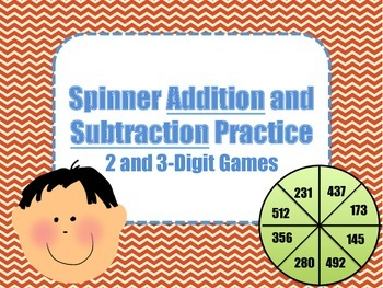 2 and 3 Digit Spinner Addition and Subtraction Games