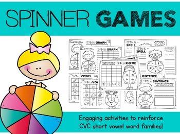 Spinner Games for CVC Words