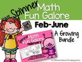 Spinner Math Fun February thru June-A Growing Bundle